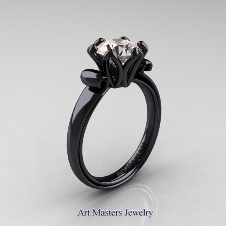 Art-Masters-Antique-14K-Black-Gold-1-5-Ct-Morganite-Solitaire-Engagement-Ring-AR127-14KBGMO-P