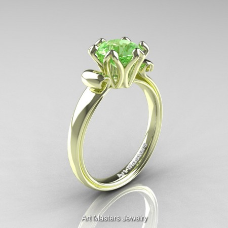 Art-Masters-Antique-14K-Green-Gold-1-5-Ct-Green-Topaz-Solitaire-Engagement-Ring-AR127-14KGGGT-P