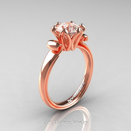 Art-Masters-Antique-14K-Rose-Gold-1-5-Ct-Morganite-Solitaire-Engagement-Ring-AR127-14KRGMO-P