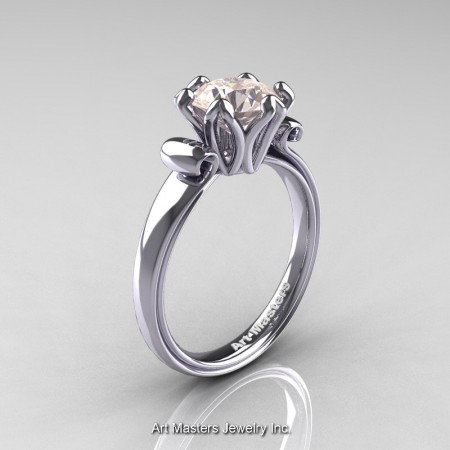 Art-Masters-Antique-14K-White-Gold-1-5-Ct-Morganite-Solitaire-Engagement-Ring-AR127-14KWGMO-P
