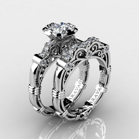 Art-Masters-Caravaggio-14K-White-Gold-1-Carat-Diamond-Engagement-Ring-Wedding-Band-Set-R623S-14KWGD-P