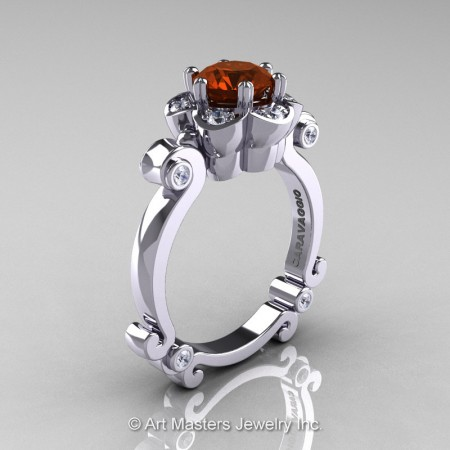 Art-Masters-Caravaggio-14K-White-Gold-1-Ct-Brown-and-White-Diamond-Engagement-Ring-R606-14KWGDBRD-P2