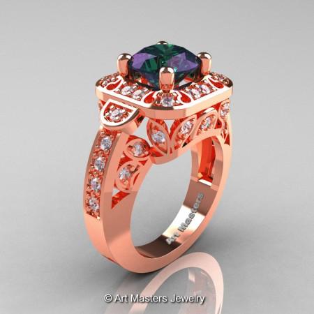 Art-Masters-Classic-14K-Rose-Gold-2-Carat-Alexandrite-Diamond-Engagement-Ring-Wedding-Ring-R298-14KRGDAL-P