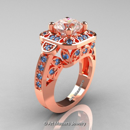 Art-Masters-Classic-14K-Rose-Gold-2-Carat-Morganite-Blue-Topaz-Engagement-Ring-Wedding-Ring-R298-14KRGBTMO-P