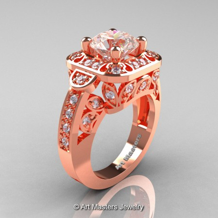 Art-Masters-Classic-14K-Rose-Gold-2-Carat-Morganite-Diamond-Engagement-Ring-Wedding-Ring-R298-14KRGDMO-P