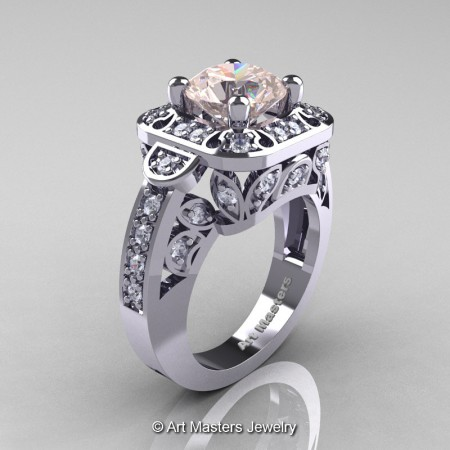 Art-Masters-Classic-14K-White-Gold-2-Carat-Morganite-Diamond-Engagement-Ring-Wedding-Ring-R298-14KWGDMO-P