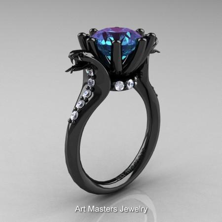 Art-Masters-Cobra-14K-Black-Gold-3-Carat-Alexandrite-Diamond-Engagement-Ring-R602-14KBGDAL-P
