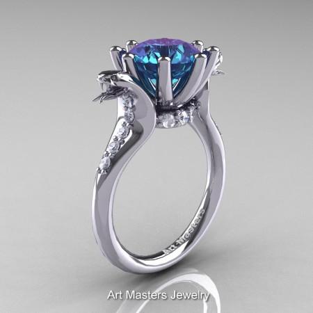 Art-Masters-Cobra-14K-White-Gold-3-Carat-Alexandrite-Diamond-Engagement-Ring-R602-14KWGDAL-P