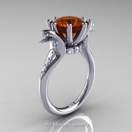 Art-Masters-Cobra-14K-White-Gold-3-Carat-Brown-Diamond-Engagement-Ring-R602-14KWGDBRD-P