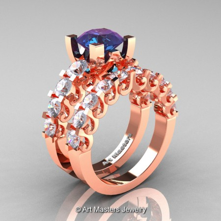 Art-Masters-Modern-Vintage-14K-Rose-Gold-3-Ct-Alexandrite-White-Sapphire-Wedding-Ring-Set-R142S-14KRGWSAL-P
