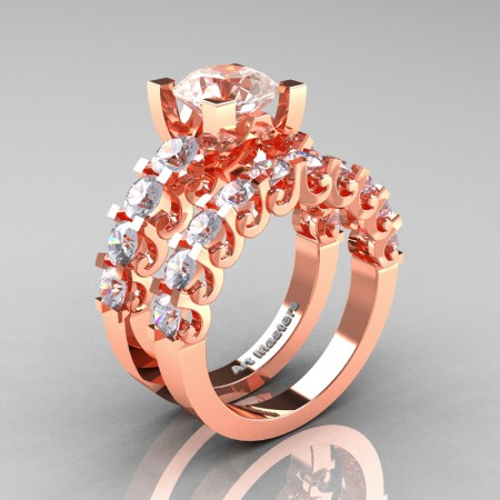 Art-Masters-Modern-Vintage-14K-Rose-Gold-3-Ct-Morganite-Wedding-Ring-Set-R142S-14KRGMO-P