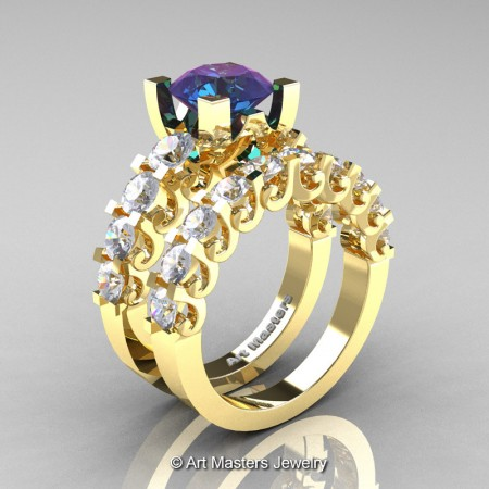 Art-Masters-Modern-Vintage-14K-Yellow-Gold-3-Ct-Alexandrite-White-Sapphire-Wedding-Ring-Set-R142S-14KYGWSAL-P