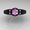 Art-Masters-Winged-Skull-14K-Black-Gold-1-Carat-Light-Pink-Sapphire-Engagement-Ring-R613-14KBGLPS-T