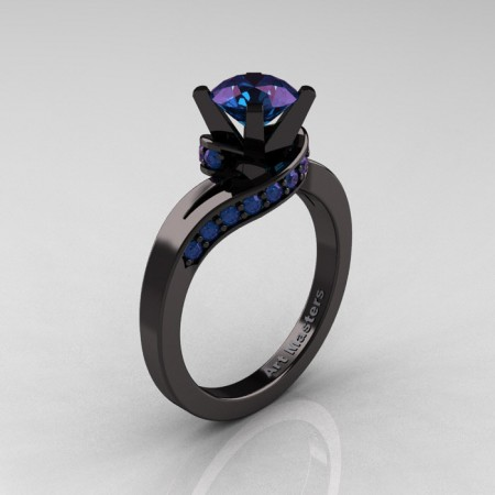 Classic-14K-Black-Gold-1-0-Ct-Alexandrite-Designer-Solitaire-Ring-R259-14KBGAL-P