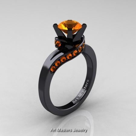 Classic-14K-Black-Gold-1-0-Ct-Orange-Sapphire-Designer-Solitaire-Ring-R259-14KBGOS-P