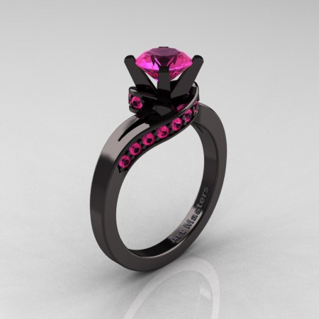 Classic-14K-Black-Gold-1-0-Ct-Pink-Sapphiret-Designer-Solitaire-Ring-R259-14KBGPS-P