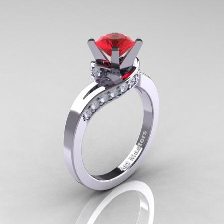 Classic-14K-White-Gold-1-0-Ct-Ruby-Diamond-Designer-Solitaire-Ring-R259WGDR-P