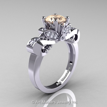 Classic-14K-White-Gold-1-Carat-Champagne-Diamond-Solitaire-Engagement-Ring-R323-14KWGDCH-P