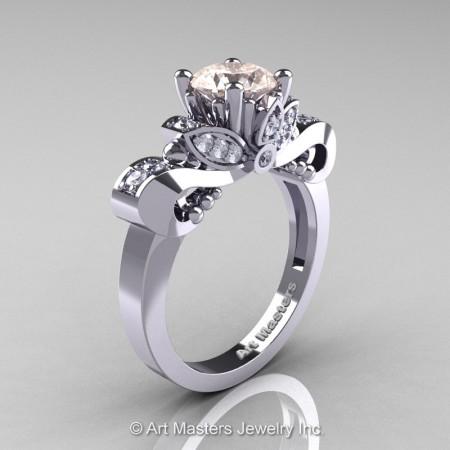 Classic-14K-White-Gold-1-Carat-Morganite-Diamond-Solitaire-Engagement-Ring-R323-14KWGDMO-P