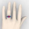 Classic-14K-White-Gold-Three-Stone-Princess-Pink-Sapphire-Blue-Topaz-Diamond-Ring-R500-WGBTPS-H