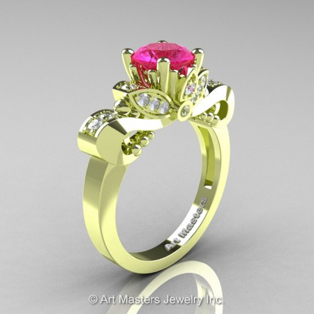 Classic-18K-Green-Gold-1-Carat-Pink-Sapphire-Diamond-Solitaire-Engagement-Ring-R323-14KGGDPS-P