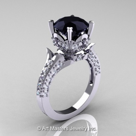 Classic-French-White-Gold-Black-and-White-Diamond-Solitaire-Wedding-Ring-R401-WGDBD-P