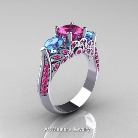 Classic-Gold-Three-Stone-Sapphire-Topaz-Engagement-Ring-R200-WGPSBT-P