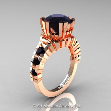 Modern-14K-Rose-Gold-3-Carat-Black-Diamond-Solitaire-Wedding-Ring-R325-14KRGBD-P