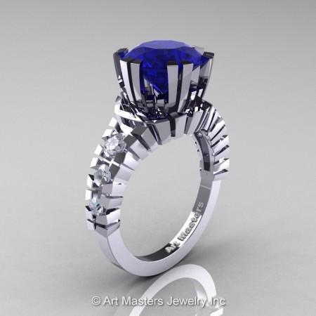 Modern-14K-White-Gold-3-Carat-Blue-White-Sapphire-Solitaire-Wedding-Ring-R325-14KWGWSBS-P