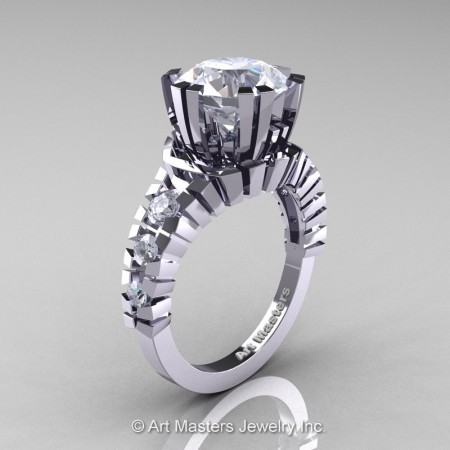Modern-14K-White-Gold-3-Carat-White-Sapphire-Solitaire-Wedding-Ring-R325-14KWGWS-P