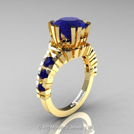 Modern-14K-Yellow-Gold-3-Carat-Blue-Sapphire-Solitaire-Wedding-Ring-R325-14KYGBS-P