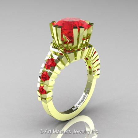 Modern-18K-Green-Gold-3-Carat-Rubies-Solitaire-Wedding-Ring-R325-18KGGR-P
