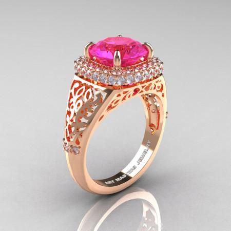 Modern-Baroque-14K-Rose-Gold-3-0-Ct-Pink-Sapphire-Diamond-Wedding-Ring-R407-14KRGDPS-P