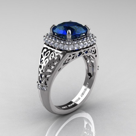 Modern-Baroque-14K-White-Gold-3-0-Ct-London-Blue-Sapphire-Diamond-Wedding-Ring-R407-14KWGDLBS-P