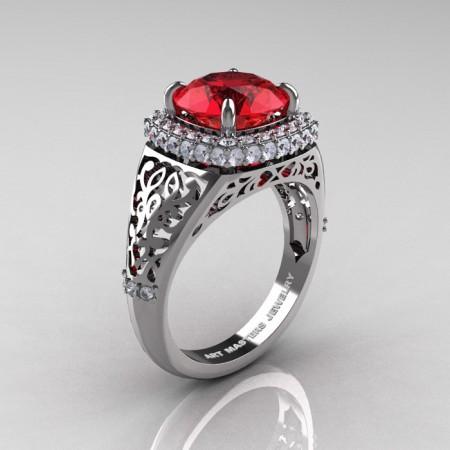 Modern-Baroque-14K-White-Gold-3-0-Ct-Ruby-Diamond-Wedding-Ring-R407-14KWGDR-P