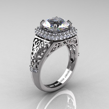 Modern-Baroque-14K-White-Gold-3-0-Ct-White-Sapphire-Diamond-Wedding-Ring-R407-14KWGDWS-P
