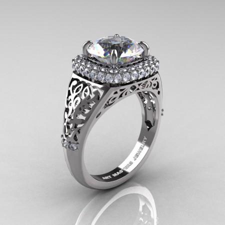 Modern-Baroque-14K-White-Gold-3-0-Ct-White-Sapphire-Diamond-Wedding-Ring-R407-14KWGDWS-P