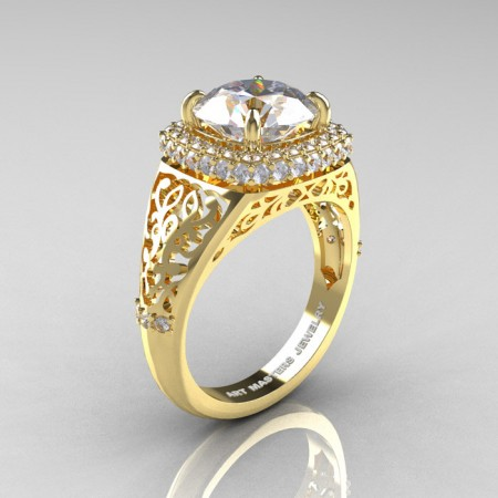 Modern-Baroque-14K-Yellow-Gold-3-0-Ct-White-Sapphire-Diamond-Wedding-Ring-R407-14KYGDWS-P