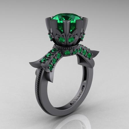 Modern-Vintage-14K-Gray-Gold-3-Ct-Emerald-Solitaire-Ring-R253-GGEM-P