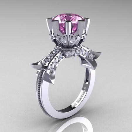Modern-Vintage-14K-White-Gold-3-Ct-Light-Pink-Sapphire-Diamond-Solitaire-Ring-R253-WGDLPS-P