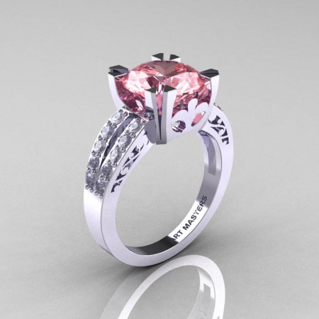 Modern-Vintage-White-Gold-3-0-Carat-Morganite-Diamond-Solitaire-Ring-R102-WGDMO-P