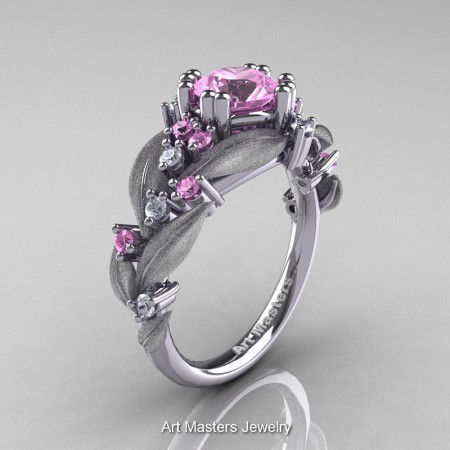 Nature-Classic-14K-White-Gold-1-0-Ct-Light-Pink-Sapphire-Diamond-Leaf-and-Vine-Engagement-Ring-R340S-14KWGDLPS-P
