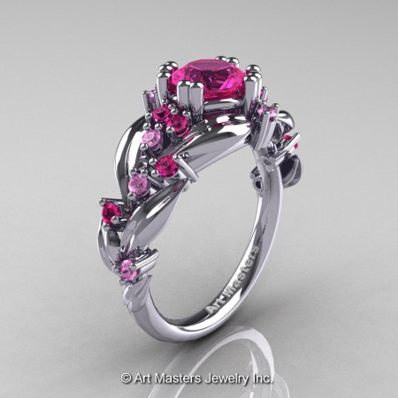Nature-Classic-14K-White-Gold-1-0-Ct-Pink-Sapphire-Leaf-and-Vine-Engagement-Ring-R340-14KWGPS-P
