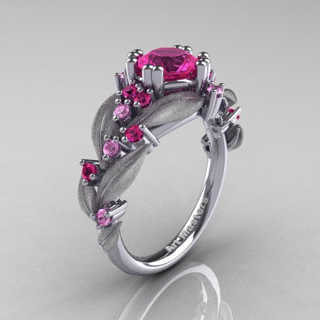 Nature-Classic-14K-White-Gold-1-0-Ct-Pink-Sapphire-Leaf-and-Vine-Engagement-Ring-R340S-14KWGPS-P2