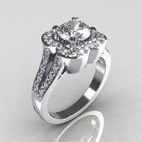 2011 Classic Trend 18K White Gold 1.0 Carat CZ Diamond Celebrity Fashion Engagement Ring R104-18KWGDCZ-1