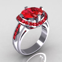Modern Bridal 10K White Gold 1.6 CTW Half Moon Rubies Channel Bridal Ring R130-10KWGRR-1