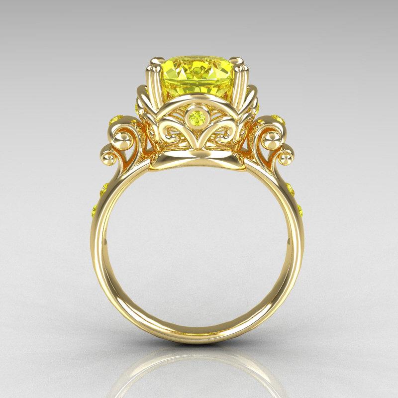 modern vintage 10k yellow gold 25 carat yellow topaz