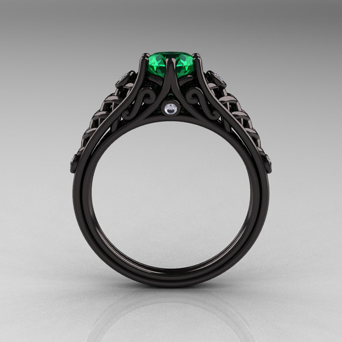 emerald criolla rings beauty of the vintage brithday wedding