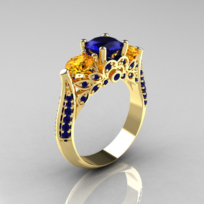 Citrine Wedding Band Ring