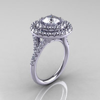 Classic Soleste 14K White Gold 1.0 Ct Russian CZ Diamond Ring R236-14WGDCZ-1